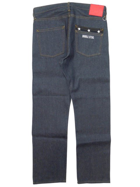 [DOUBLE STEAL] STAR POCKET NARROW DENIM3