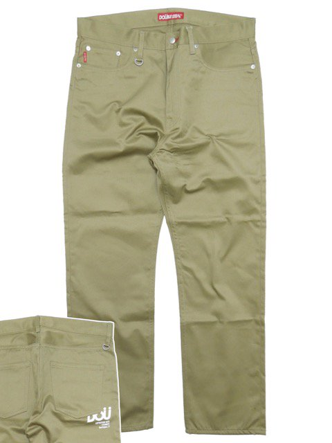 [DOUBLE STEAL] DOU LOGO NARROW CHINOS
