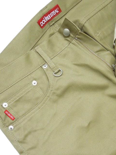 [DOUBLE STEAL] DOU LOGO NARROW CHINOS1