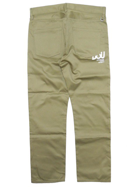 [DOUBLE STEAL] DOU LOGO NARROW CHINOS3
