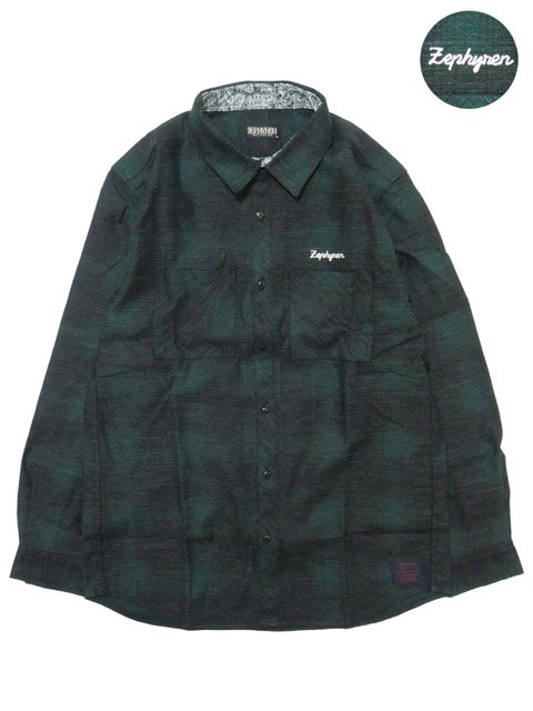 [ZEPHYREN] CHECK SHIRT L/S -Resolve-