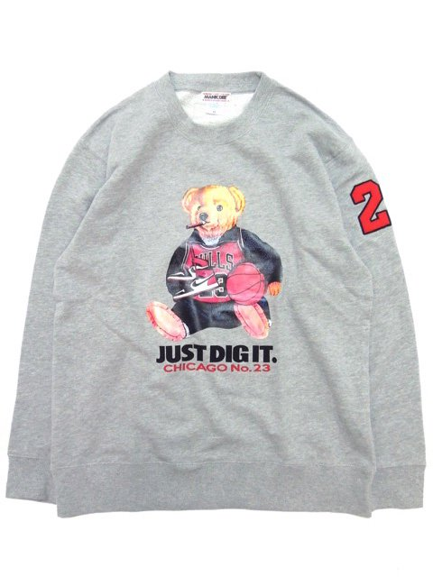 [MANIC DEE] CHICAGO No.23  SMOKIN' BEAR CREWNECK SWEAT(GR)