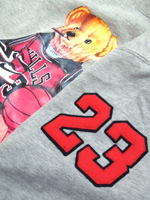 [MANIC DEE] CHICAGO No.23  SMOKIN' BEAR CREWNECK SWEAT(GR)2