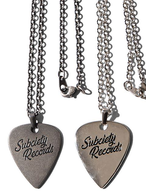 [SUBCIETY] METAL NECKLACE-VYNYL-