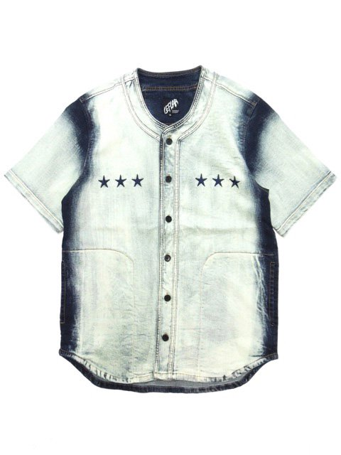 [LEFLAH] WHITE BLEACH DENIM BB SHIRT