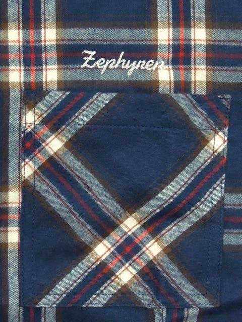 [ZEPHYREN] CHECK SHIRT L/S(NV)1