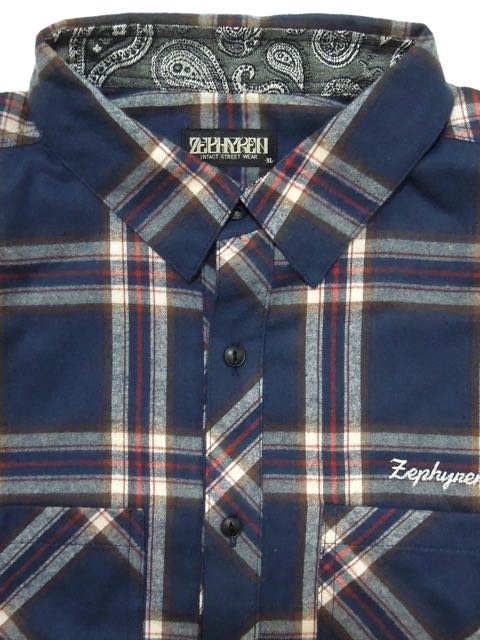 [ZEPHYREN] CHECK SHIRT L/S(NV)2