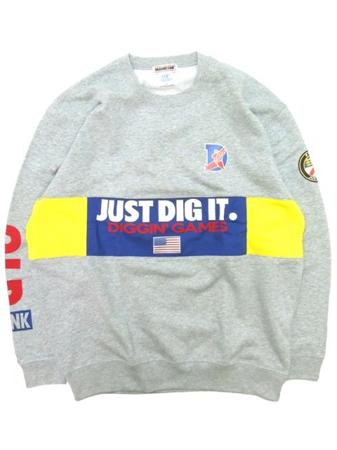[MANIC DEE] DIGGIN' GAMES OLD FUNK PATCH SWITCH PANEL CREW SWEAT