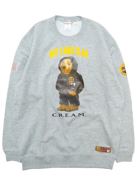 [MANIC DEE] CREAM BEAR CREW SWEAT