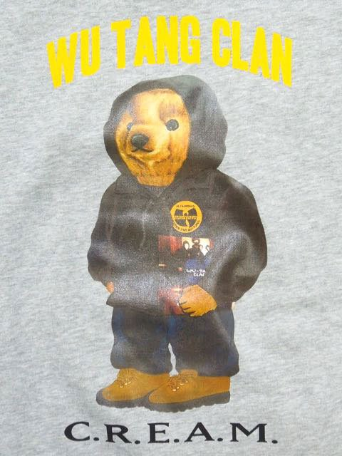 [MANIC DEE] CREAM BEAR CREW SWEAT1