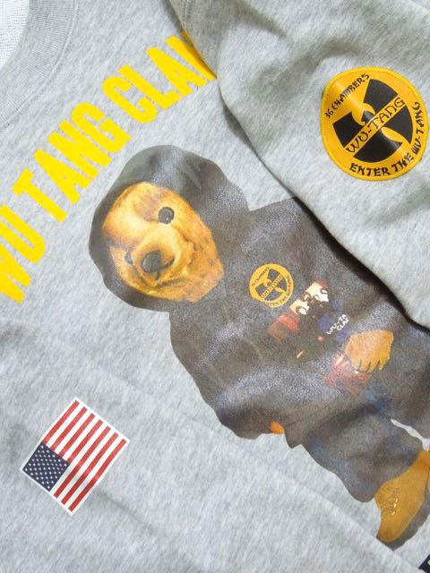 [MANIC DEE] CREAM BEAR CREW SWEAT2