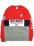 [MANIC DEE] JDI DIGGIN' GAMES PATCH SWITCH PANEL CREW SWEAT