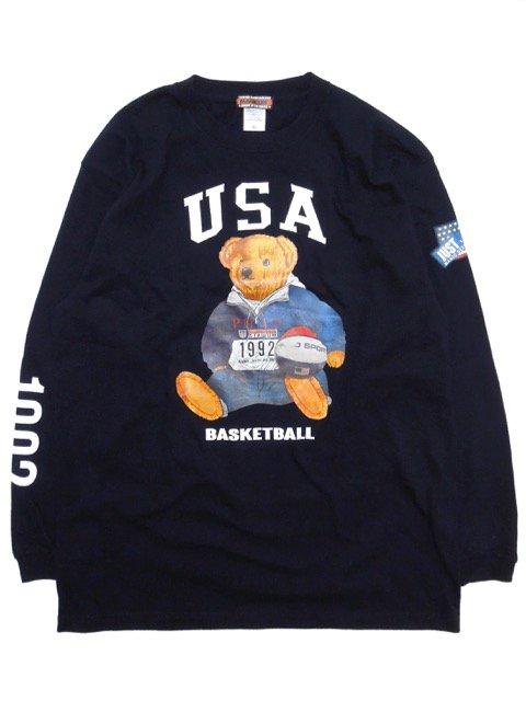 [MANIC DEE] STADIUM 1992 BB BEAR L/S TEE