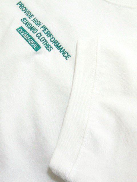 [DOUBLE STEAL] SIDE RIB EMBROIDERY TEE2
