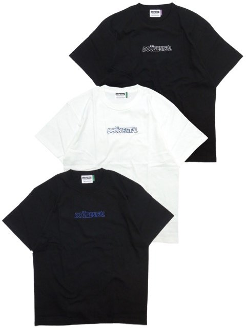 [DOUBLE STEAL] LINE BASIC EMBROIDERY HEAVY TEE