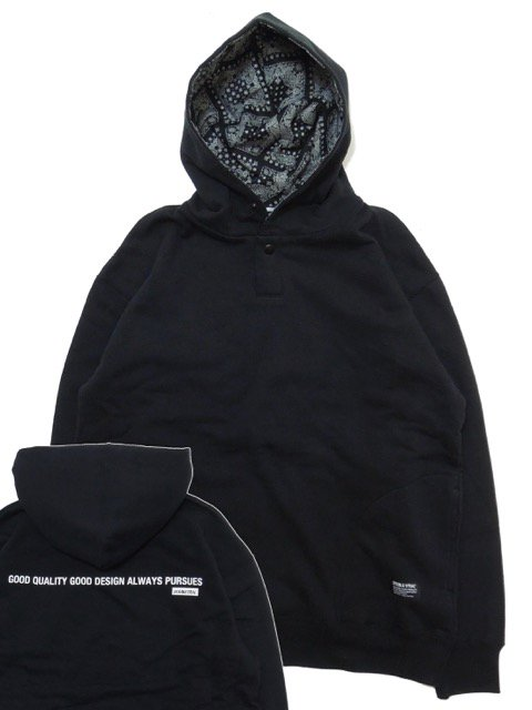[DOUBLE STEAL] HOOD IN FABRIC PARKA(BK)