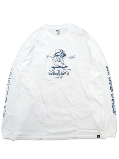 [CLUCT] NO BAD DAYS L/S TEE(WH)