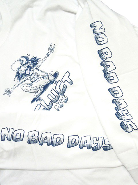 [CLUCT] NO BAD DAYS L/S TEE(WH)2