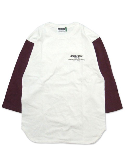 [DOUBLE STEAL] COORDINATE 3/4 SLEEVE TEE(WH/RE)