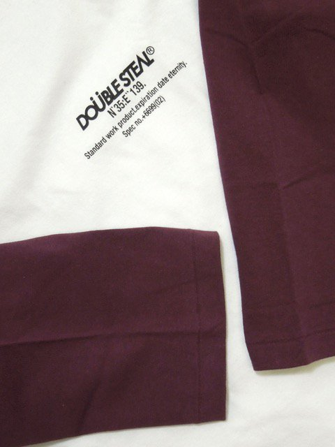 [DOUBLE STEAL] COORDINATE 3/4 SLEEVE TEE(WH/RE)2