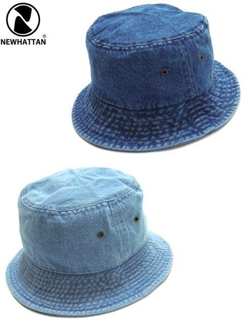 [NEWHATTAN] CLASSIC DENIM BUCKET HAT