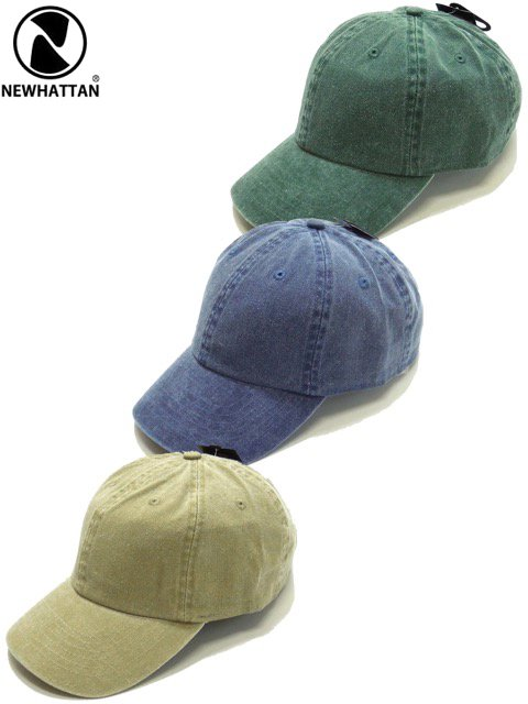 [NEWHATTAN] BASEBALL LOW CAP -pigment dyed-