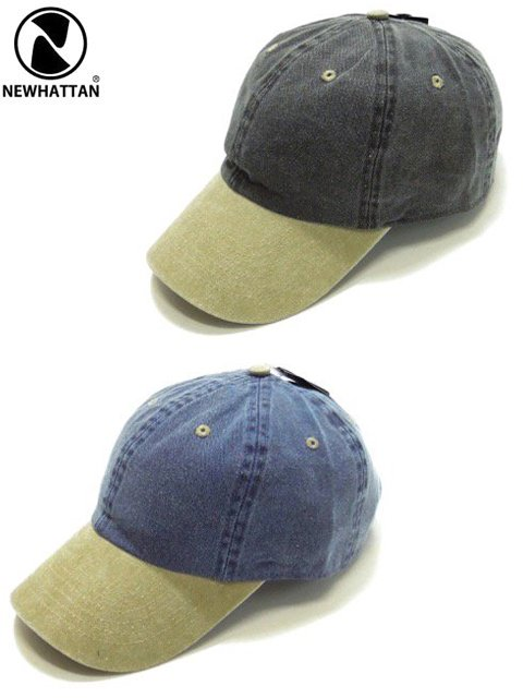 [NEWHATTAN] BASEBALL TWO TONE LOW CAP -pigment dyed-