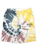 [FLASH POINT] FLASH 95 EMB TIEDYE SWEAT SHORT PANTS(YE)