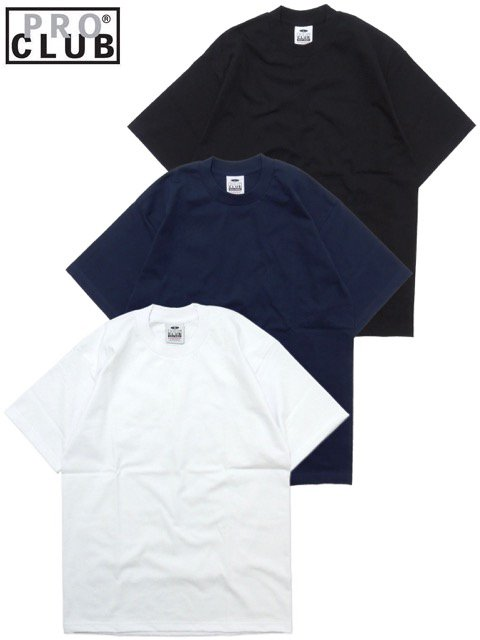 [PRO CLUB] HEAVY WEIGHT Tee(BK/NV/WH)