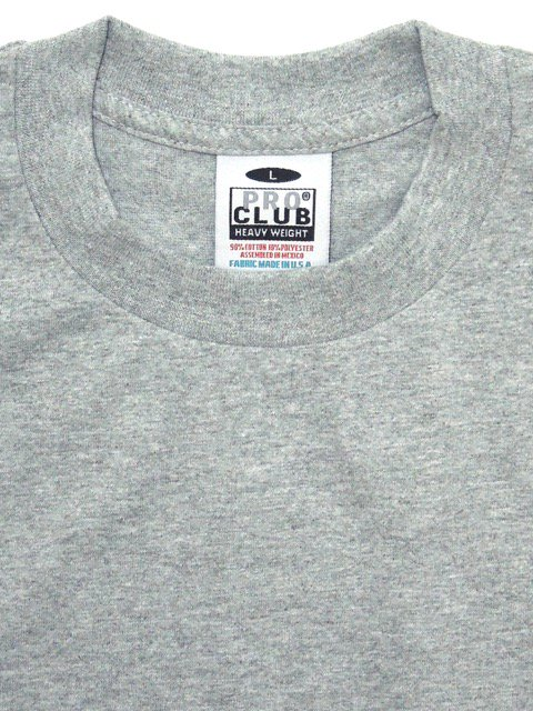 [PRO CLUB] HEAVY WEIGHT Tee(BR/KH/GR)3