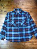 [FLASH POINT] HEAVY FLANNEL SHIRTS(BLU)