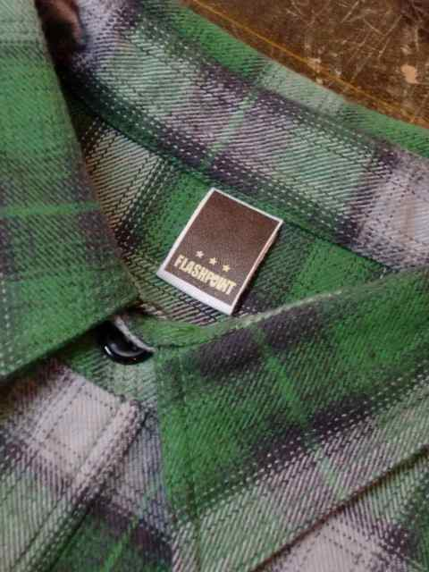 [FLASH POINT] HEAVY FLANNEL CHECK SHIRTS(GR)2