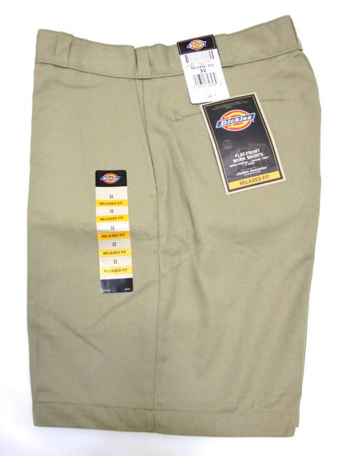 "[Dickies] FLAT-FRONT  WORK SHORTS 8""1"
