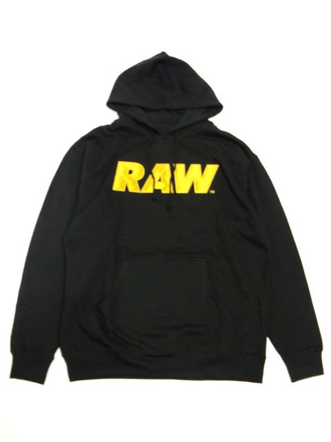 [RAW] RAW LOGO APPLIQUE PULLOVER HOODIE(GD)