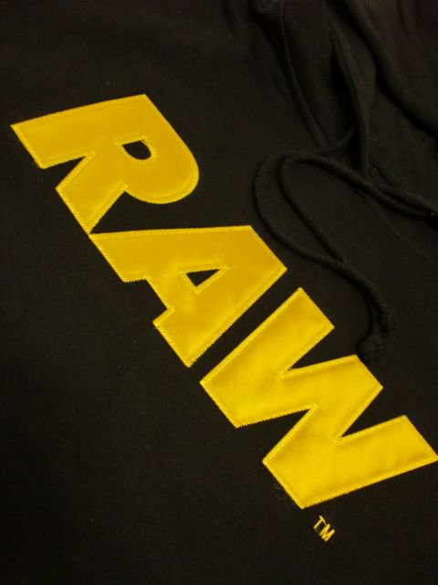 [RAW] RAW LOGO APPLIQUE PULLOVER HOODIE(GD)1