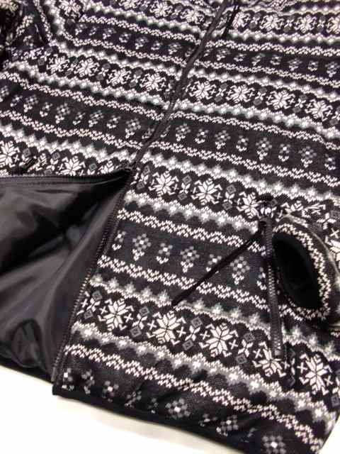 [FLASH POINT] Jacquard Knit HOOD JKT(BK)2