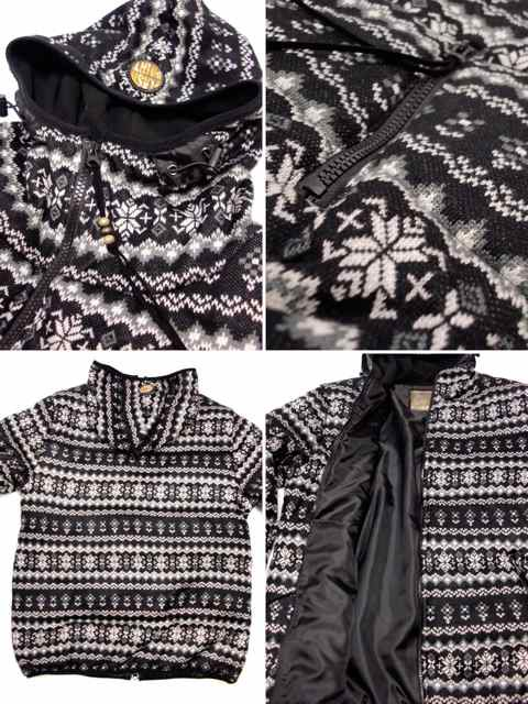[FLASH POINT] Jacquard Knit HOOD JKT(BK)3