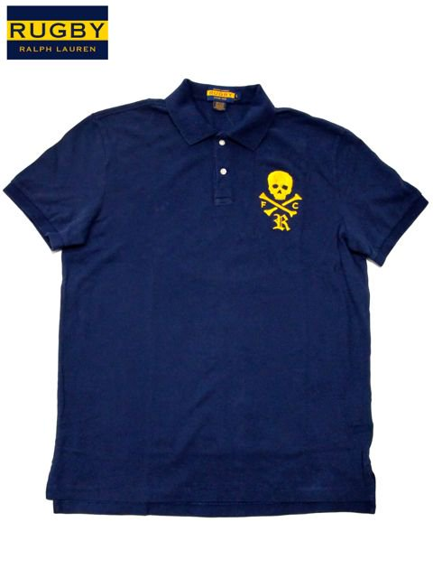 [RUGBY by Ralph Lauren] Big Skull Polo Shirts