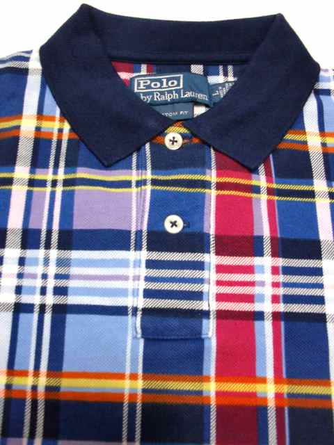 [POLO Ralph Lauren] PLAID S/S POLO SHIRT -CUSTOM FIT-1