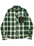 [HiLDK] CHECK SHIRT L/S -Wavin flag-
