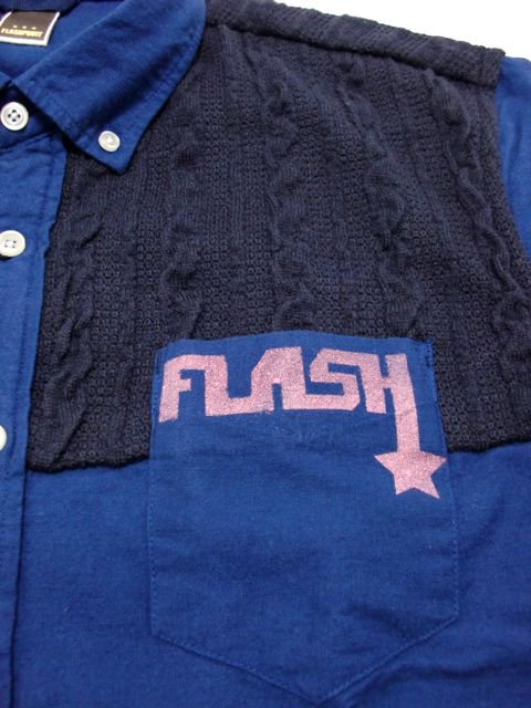 [FLASH POINT] FLANNEL COMBI SHIRTS(BL)2