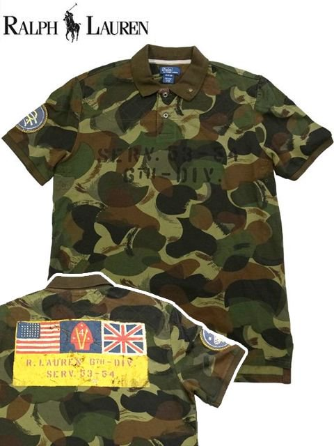 [POLO Ralph Lauren] CAMO Pique Polo S/S Shirt -Boys-
