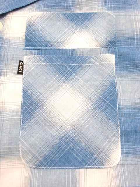 [CLUCT] S/S CHECK SHIRTS(BL)1
