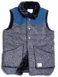 [quolt] WOOL BOA VEST(GY)