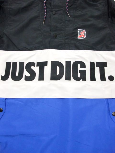 [MANIC DEE] JUST DIG IT. HALF ZIP HOODY JACKET(BK)1