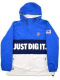 [MANIC DEE] JUST DIG IT. HALF ZIP HOODY JACKET(BL)