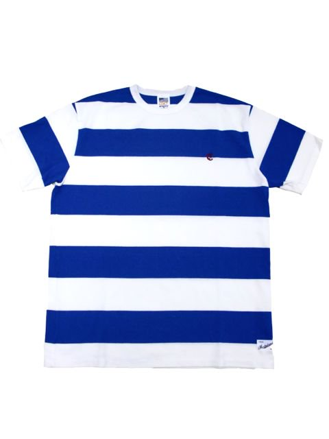 [CLUCT] S/S BORDER TEE(BL)