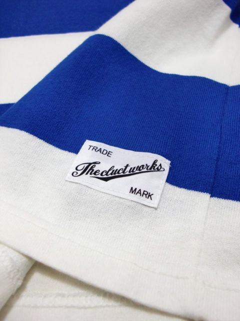 [CLUCT] S/S BORDER TEE(BL)2
