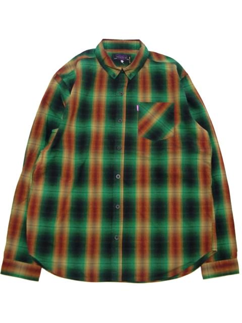 [MISHKA] CROSSFADE PLAID BUTTON UP