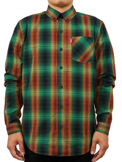 [MISHKA] CROSSFADE PLAID BUTTON UP3